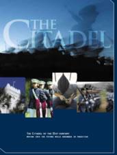 Various images of cadets at parade and barracks