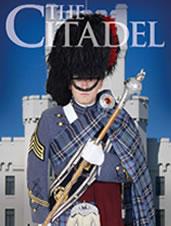 Citadel band leader in full tartan uniform