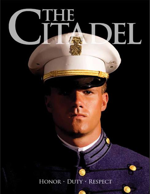 Close up of Citadel cadet's face