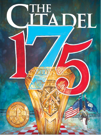 175th anniversary Citadel magazine cover with Citadel class ring